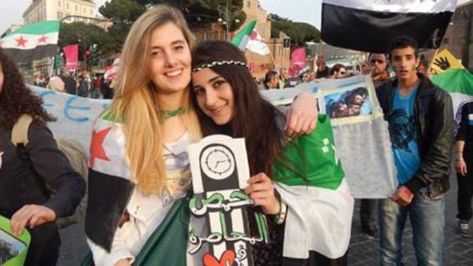 Vanessa Marzullo, 21 (left) and Greta Ramelli, 20, (right) were working on humanitarian projects in Syria (Photo from Facebook page)