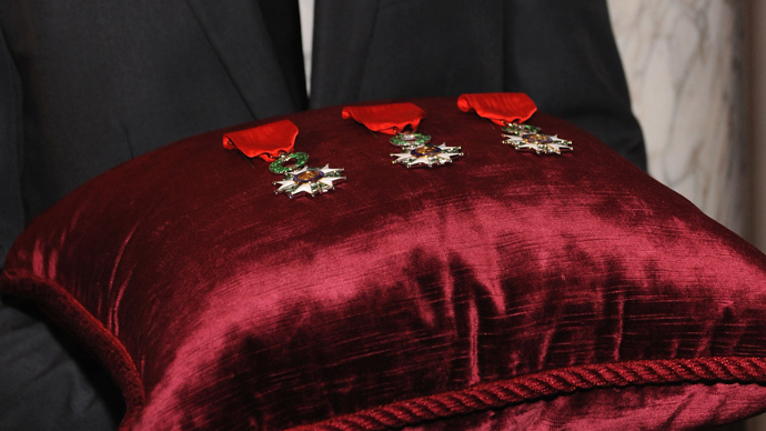The Chevalier Legion of Honor Award (Andrew Toth / Getty Images / AFP)