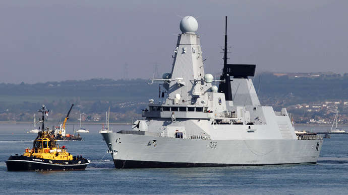 Royal Navy warship embarks on mission to combat piracy
