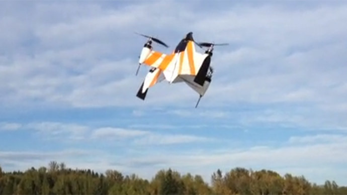 Hybrid fixed wing drone goes at speeds of up to 100 kph (VIDEO)