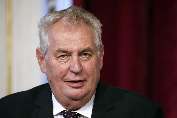 Czech President Milos Zeman (AFP Photo / Patrick Kovarik)