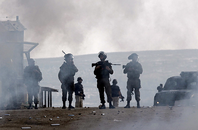 Israeli forces (AFP Photo/Abbas Momani)