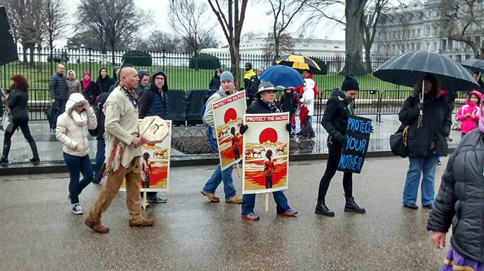 Image from Facebook (No to KXL rally)