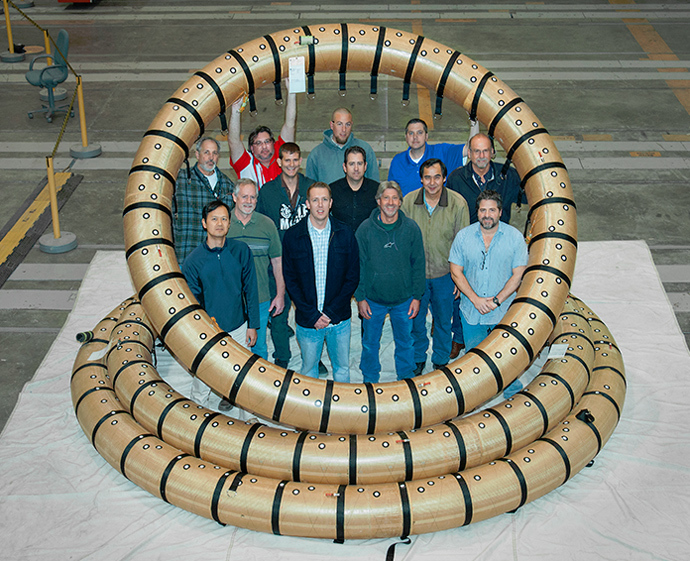 A NASA Armstrong Flight Loads Laboratory team that worked on HIAD test articles (Image from nasa.gov)