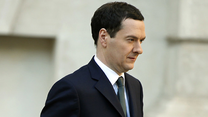Britain's Chancellor of the Exchequer, George Osborne. (AFP Photo/Alastair Grant)