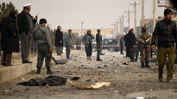 Taliban suicide bomb strikes EU vehicle near mission's HQ in Kabul
