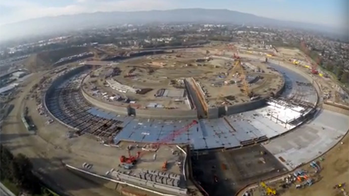 ​4k drone video reveals Apple's huge 'spaceship' HQ