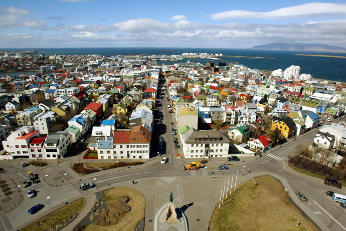 A birds view of downtown Reykjavik (AFP Photo/Odd Andersen)