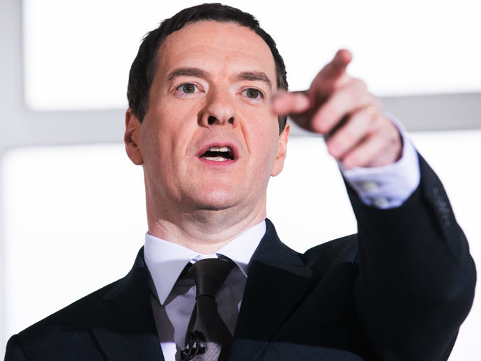 British Chancellor of the Exchequer George Osborne (AFP Photo/Andrew Cowie)