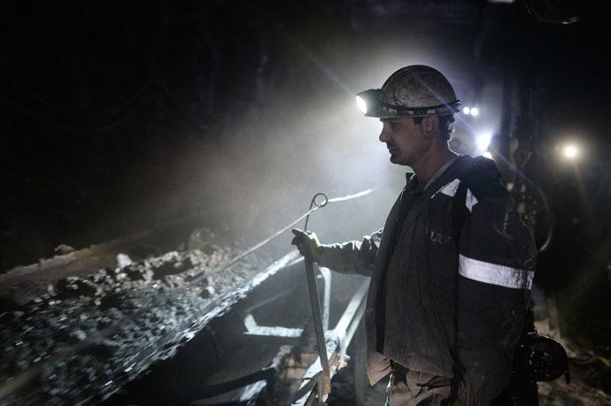 A miner of Sibirginskaya mine, Russia (RIA Novosti/Alexandr Kryazhev)