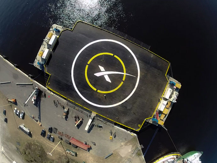 "SpaceX's ""autonomous spaceport drone ship"" (AFP/SpaceX)"