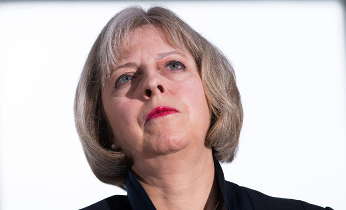 British Home Secretary Theresa May (AFP Photo)