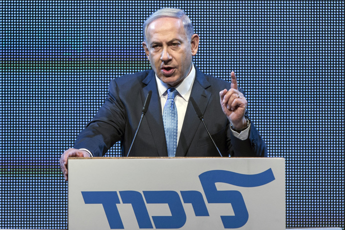 Israeli Prime Minister and leader of the ruling rightwing Likud party, Benjamin Netanyahu (AFP Photo / Jack Guez)