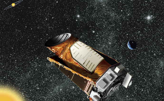 An artist's composite of the Kepler telescope is seen in this undated NASA handout image. (Reuters / NASA / Handout via Reuters)