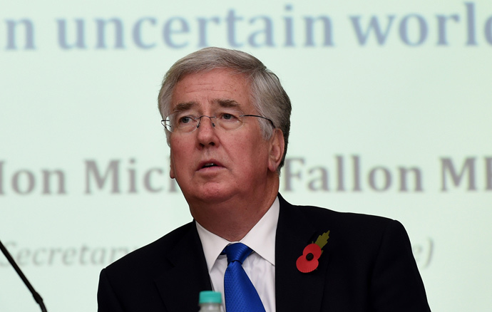 British Secretary of State for Defence Michael Fallon (AFP Photo / Sajjad Hussain)