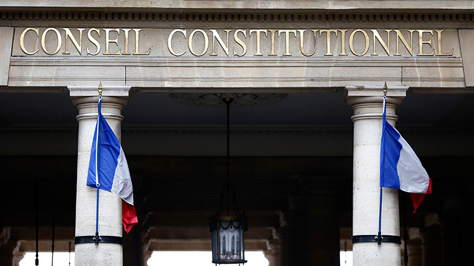 A view shows the entrance of the Constitutional Council (Conseil Constitutionnel) in Paris (Reuters / Charles Platiau)