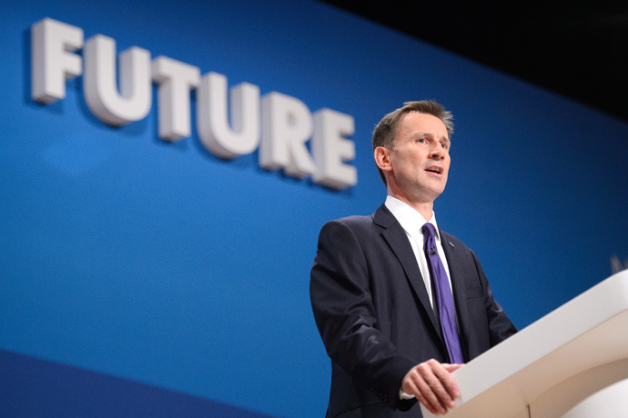 British Health Secretary Jeremy Hunt (AFP Photo / Leon Neal)