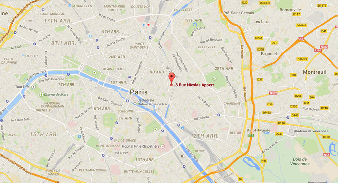 Charlie Hebdo office (Google Maps)