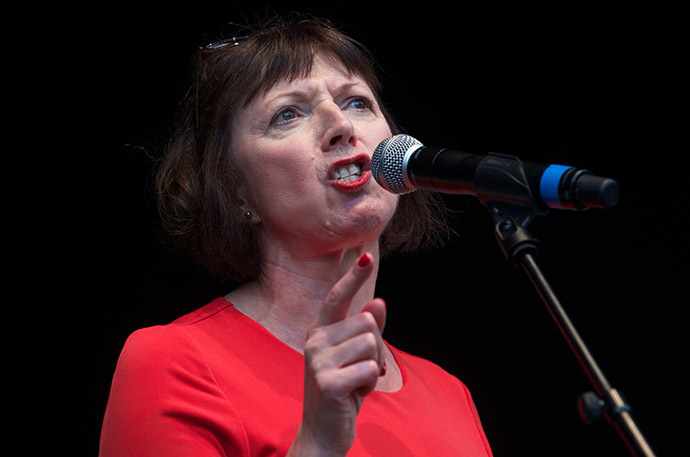 Frances O'Grady, General Secretary of the British Trades Union Congress (TUC). (AFP Photo/Andrew Cowie)
