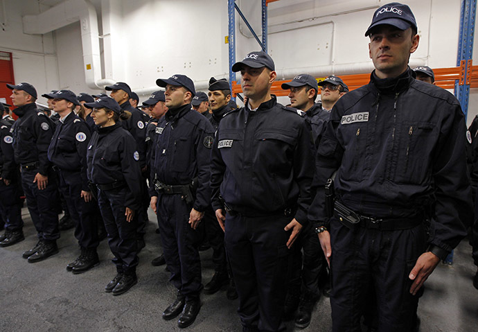 French police officers Reuters/Jean-Paul Pelissier