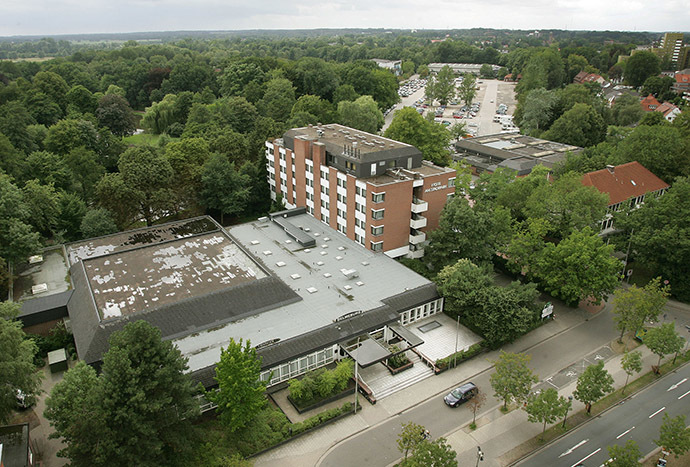 A general view shows an central Delmenhorst near Bremen. (Reuters/Christian Charisius)