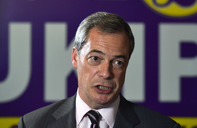 UK Independence Party (UKIP) party leader Nigel Farage (AFP Photo/Ben Stansall)