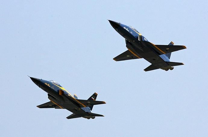 "Iranian ""Saeqeh"" (Thunder) fighter jets (AFP Photo)"