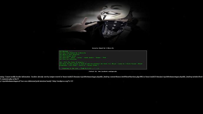 Screenshot of Dutch-based Jacht Betimmering Interieurbouw H.H. Reinderink Company hacked by L'Apoca-Dz.