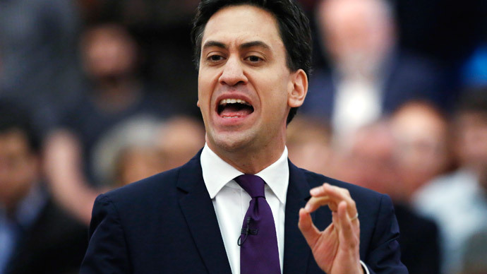 Britain's opposition Labour party leader Ed Miliband.(Reuters / Luke Macgregor)