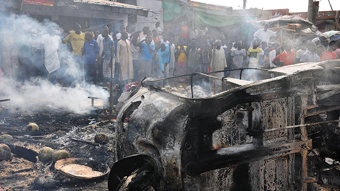 10 yo suicide bomber blows up at crowded market in Nigeria, kills more than 15