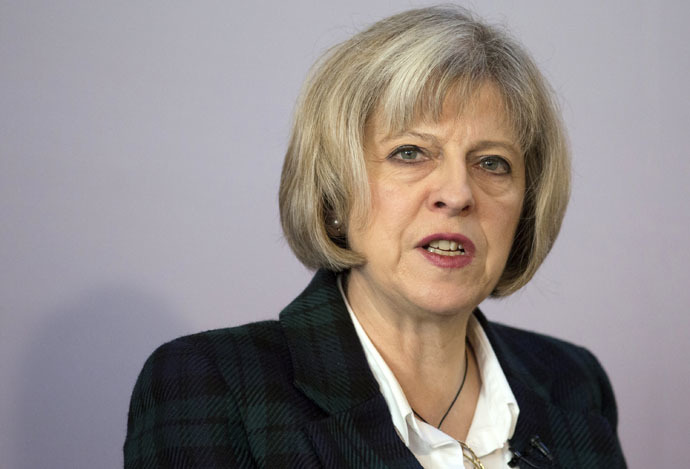 Britain's Home Secretary Theresa May (Reuters/Daniel Leal-Olivas)