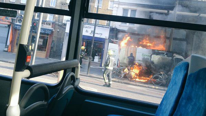 London explosion: 'Man on fire' in critical condition