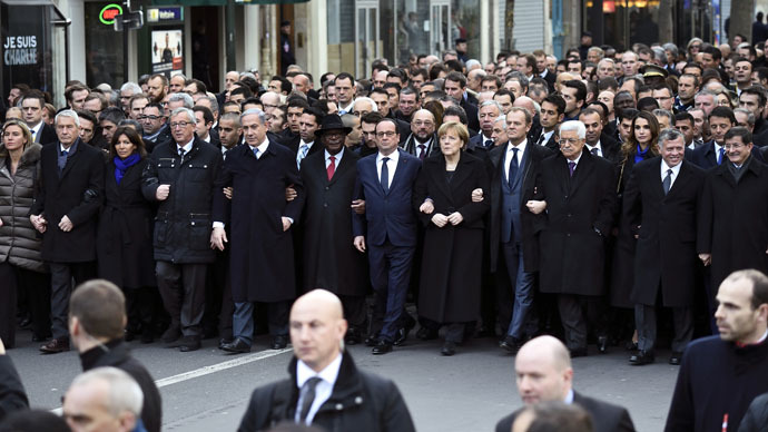 Obama takes heat for not attending 'anti-terror' Paris rally
