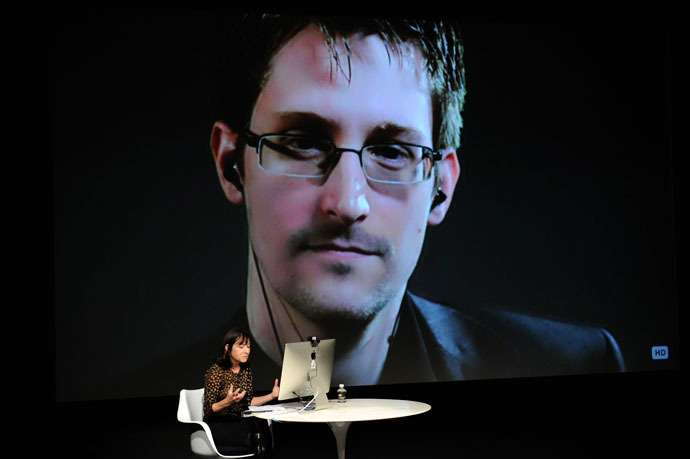 NSA whistleblower, Edward Snowden. (Bryan Bedder/Getty Images for The New Yorker/AFP)