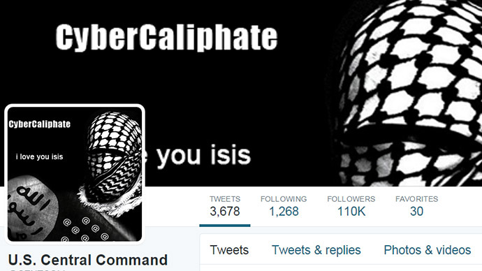 Central Command Twitter account apparently hacked by CyberCaliphate