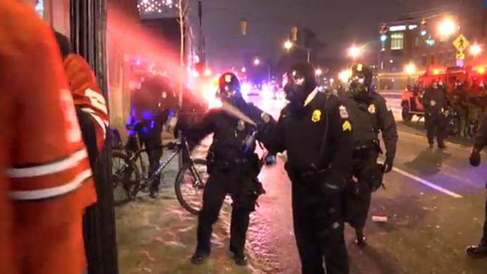 Tear gas, pepper spray disperse crowds of Ohio football fans