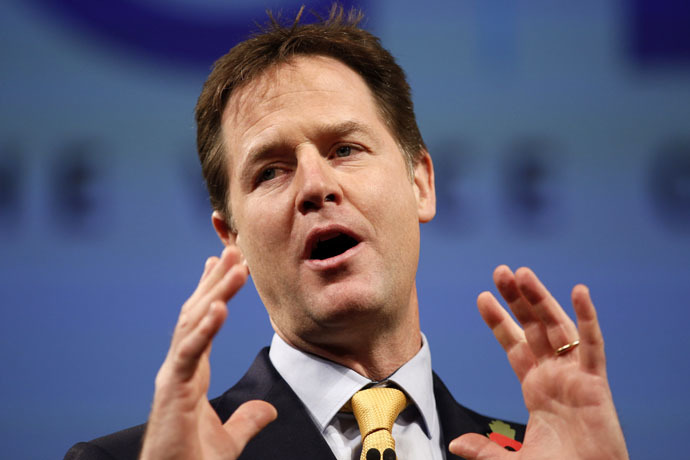 British Deputy Prime Minister Nick Clegg (AFP Photo)