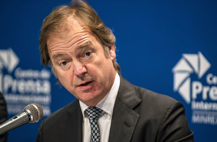 British Minister of State for the Foreign and Commonwealth Office, Hugo Swire (AFP Photo)