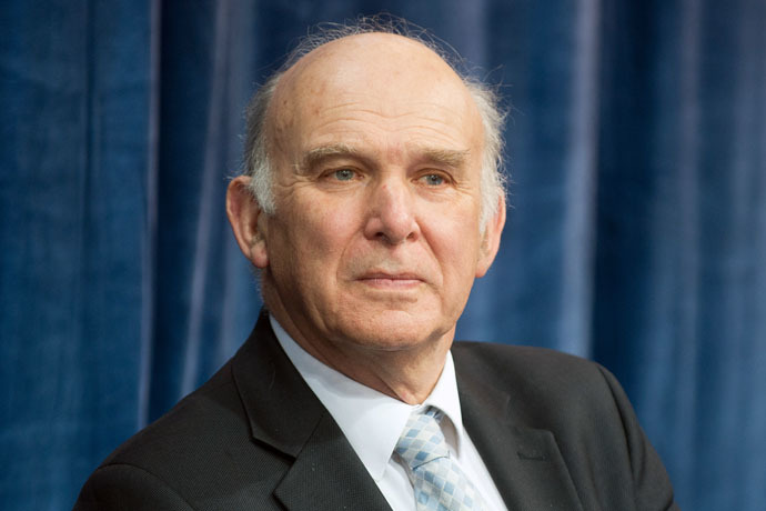 British Business Secretary Vince Cable (AFP Photo)
