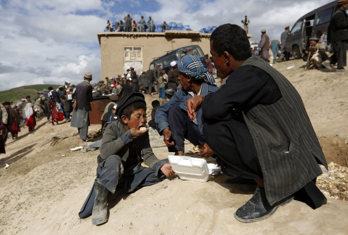 Afghani villagers. (Reuters/Mohammad Ismail)