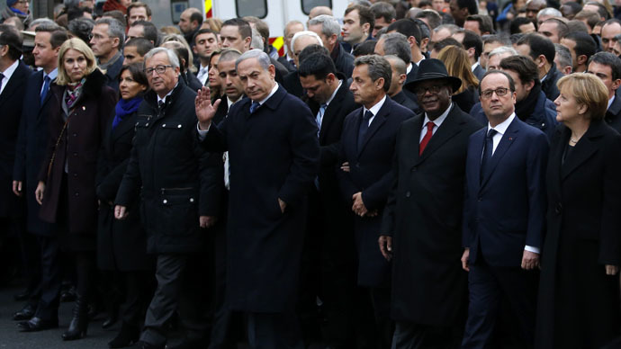 Women out: Ultra-Orthodox Jewish paper edits Merkel out of Paris march
