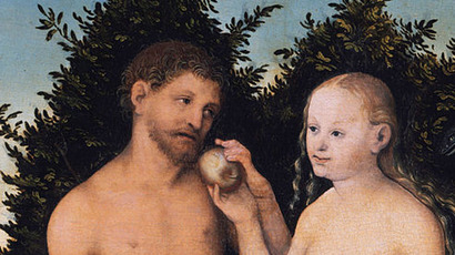 Eve giving Adam the forbidden fruit, by Lucas Cranach the Elder (Image from wikipedia.org)