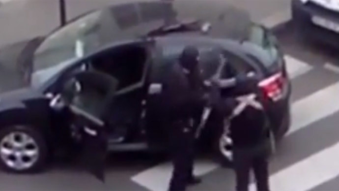 New online video shows Charlie Hebdo attackers shooting at police