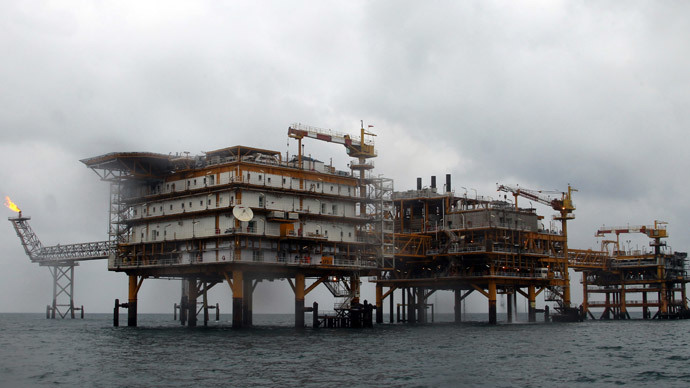 Iranian South Pars quarter one (SPQ1) gas platform in the Gulf near Qatar's territorial waters.(AFP Photo / Atta Kenare)