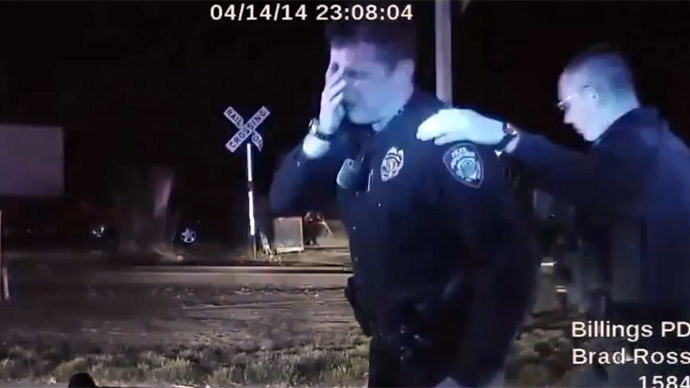 Montana cop sobbed after killing unarmed man, cleared of wrongdoing in death (GRAPHIC VIDEO)