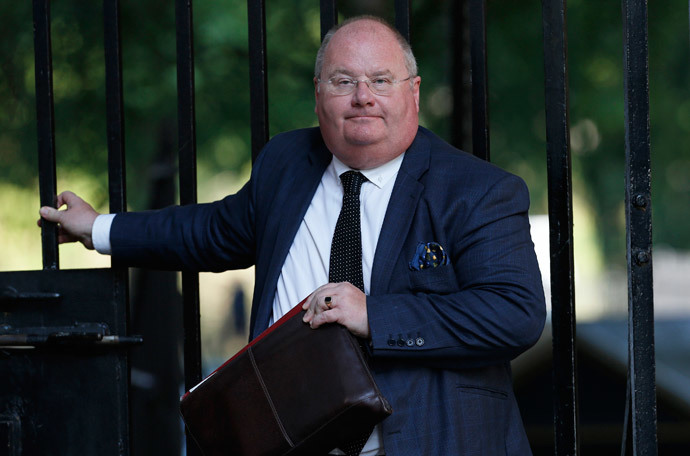 Britain's Communities Secretary Eric Pickles (Reuters / Suzanne Plunkett)