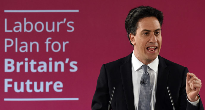 Leader of the opposition Labour Party Ed Miliband (AFP Photo / Paul Ellis)