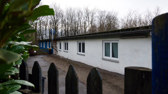 The warden's barracks of a former Nazi concentration sub-camp are pictured on January 13, 2015 in Schwerte, western Germany.( AFP Photo / Bernd Thissen)