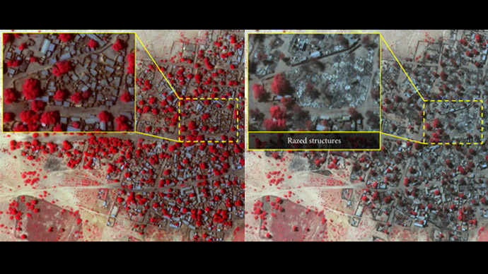 Satellite images reveal 'horrific' scale of Boko Haram attack in Nigeria