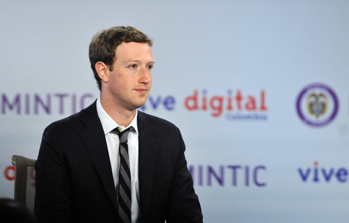 Facebook founder Mark Zuckerberg. (AFP Photo/Guillermo Legaria)
